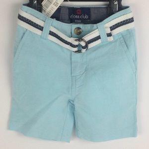 Boys Blue Shorts w/ Belt Size 3T